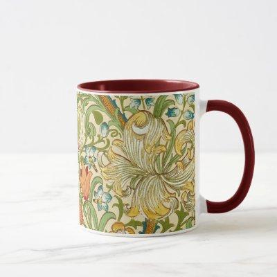 William Morris Golden Lily Vintage Pre-Raphaelite Mug