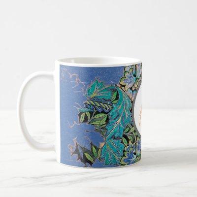 William Morris PERSONALIZED INITIAL Mug