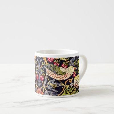 William Morris Strawberry Thief Floral Art Nouveau Espresso Cup