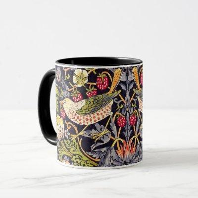 William Morris Strawberry Thief Floral Art Nouveau Mug