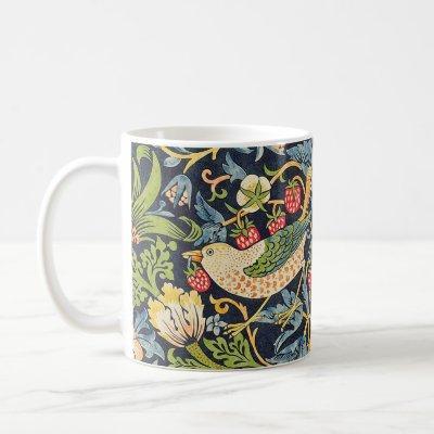 William Morris Strawberry Thief Floral Pattern Coffee Mug