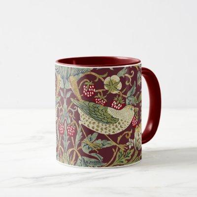 William Morris Strawberry Thief Textile Pattern Mug