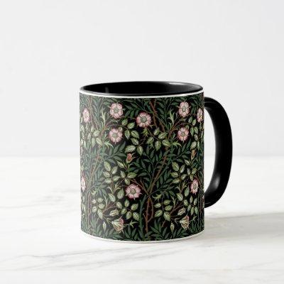 William Morris Sweet Briar Wild Red Roses Vintage Mug
