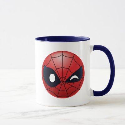 Winking Spider-Man Emoji Mug