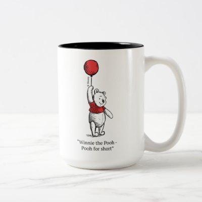 Winnie the Pooh for Short Two-Tone Coffee Mug