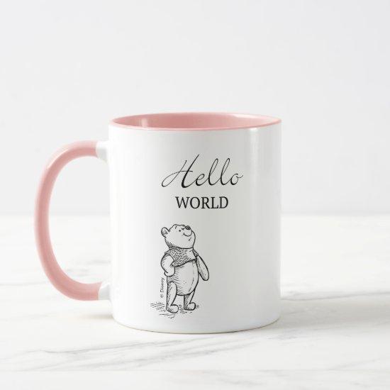 Winnie the Pooh | Hello World Quote Mug