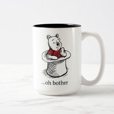 Winnie the Pooh | Oh Bother Quote Two-Tone Coffee Mug