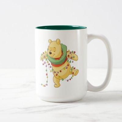 Winnie the Pooh   Pooh Christmas Lights Two-Tone Coffee Mug