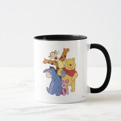 Winnie the Pooh Pooh Piglet Tigger Eeyore Mug