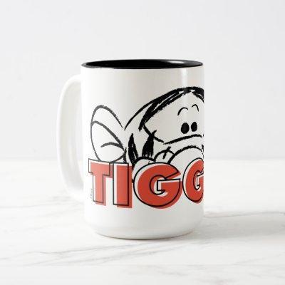 Winnie the Pooh | Tigger Peek-A-Boo Two-Tone Coffee Mug