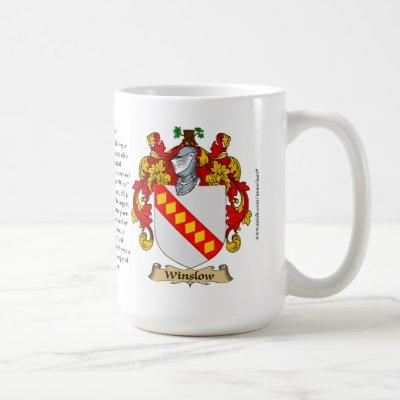 Winslow Family Coat of Arms Coffee Mug