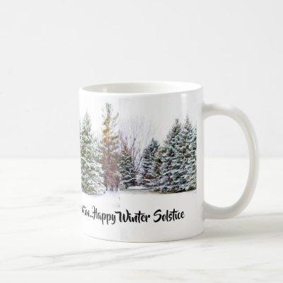 Winter Holiday / Happy Solstice Mug