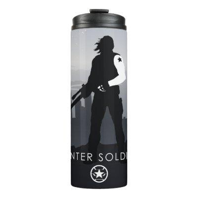 Winter Soldier Heroic Silhouette Thermal Tumbler