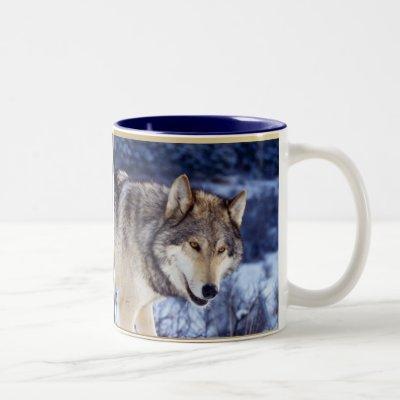 Winter Wolf 2 Two-Tone Coffee Mug