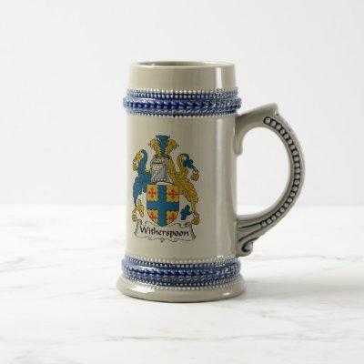 Witherspoon Family Crest Beer Stein