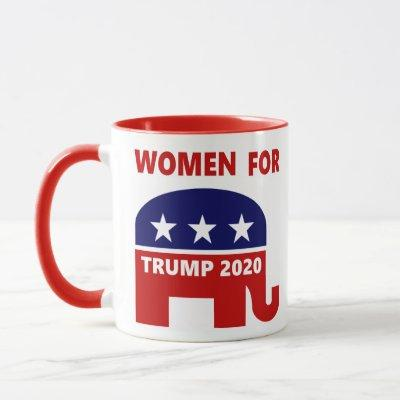 Women For Trump 2020 Popular red white and blue Mug