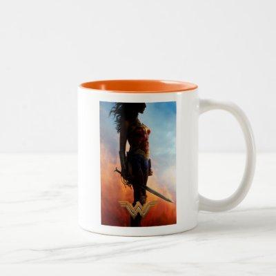Wonder Woman Duststorm Silhouette Two-Tone Coffee Mug