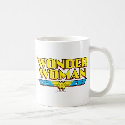 Wonder Woman Name and Logo Coffee Mug