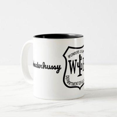 Wonderhussy Adventures B&W Desert Badge Two-Tone Coffee Mug