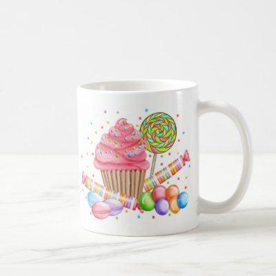 Wonderland Cupcake Candy Lollipop Sweet Tarts Coffee Mug