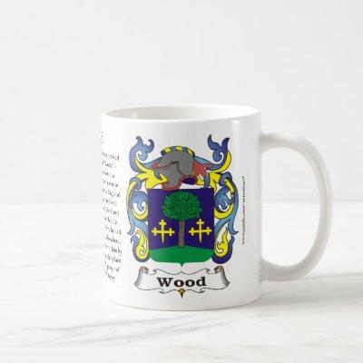 Wood Family Coat of Arms Mug