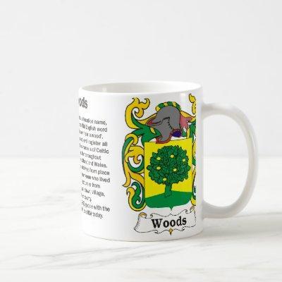 Woods Family Crest Mug