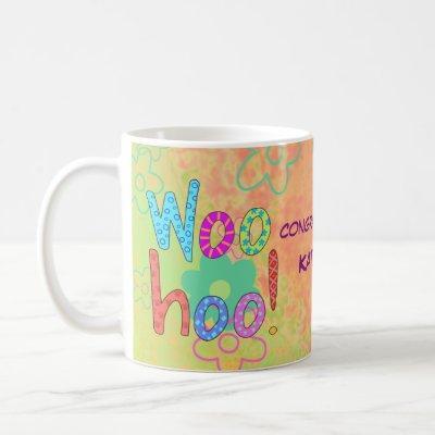 Woohoo Congratulations Name Personalized Graphic Coffee Mug