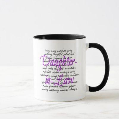 Words for Daughter-in-Law Mug