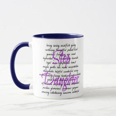 Words for Step Daughter Mug