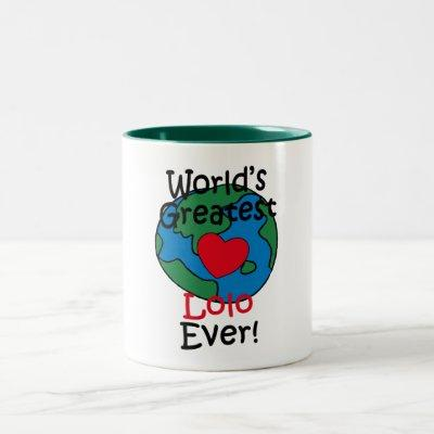 World's Greatest Lolo Heart Two-Tone Coffee Mug