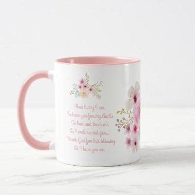 World's Best AUNTIE MUG POEM, Personalized