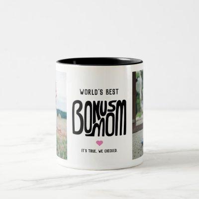 World's Best Bonus Mom Two Photo Mug