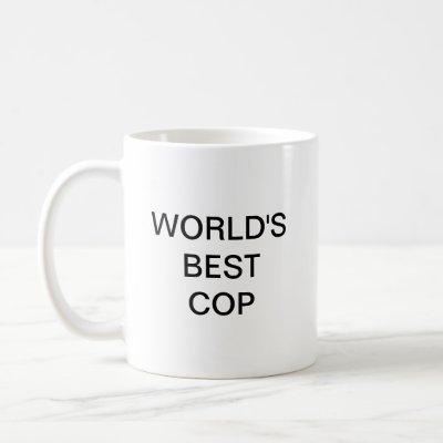 World's best cop coffee mug