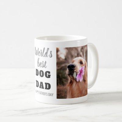 World's Best Dog Dad Father's Day 2 Photo Coffee Mug