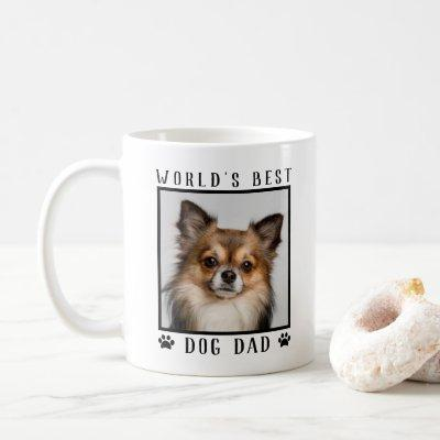 World's Best Dog Dad Paw Prints Pet Photo Frame Coffee Mug