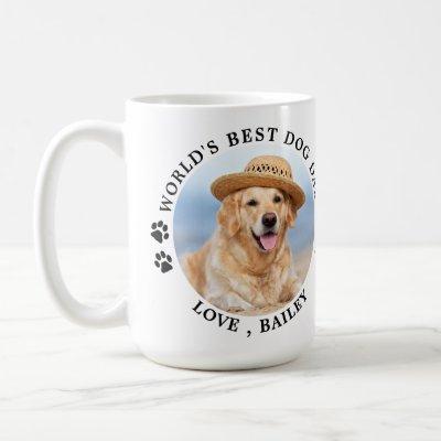 World's Best Dog Dad Personalized Pet Photo Coffee Mug
