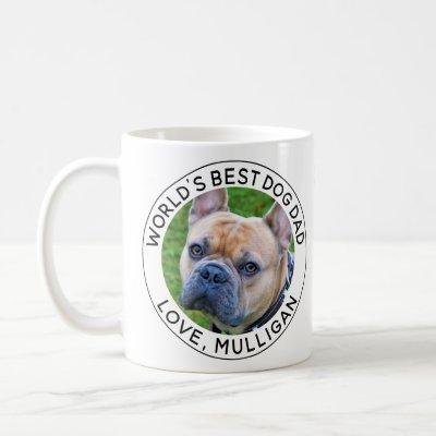 Worlds Best Dog Dad Photo Coffee Mug