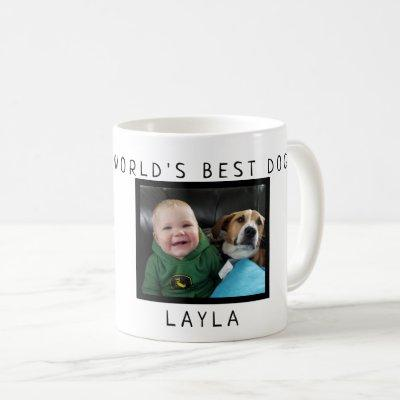 World's Best Dog Personalized with Photo and Name Coffee Mug