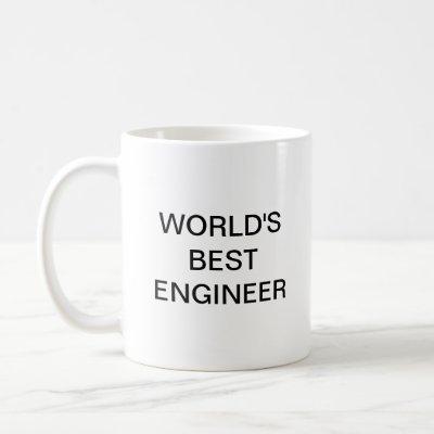 World's best engineer coffee mug