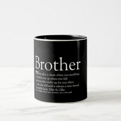 World's Best Ever Brother Definition Modern Two-Tone Coffee Mug