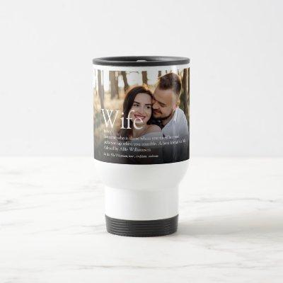 World's Best Ever Wife Definition Modern Photo Travel Mug
