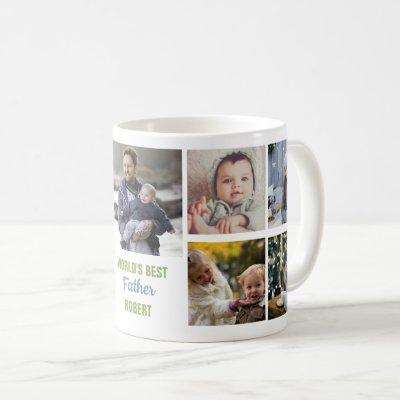 World's Best Father Instagram Photo Collage Name Coffee Mug