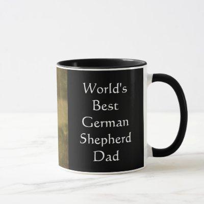World's Best German Shepherd Dad Mug