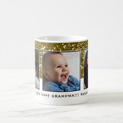 World's Best Grandma Christmas Photo Collage Coffee Mug