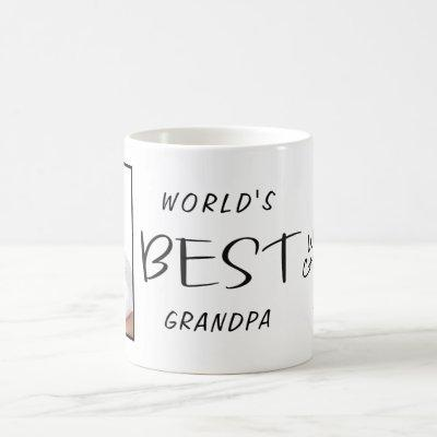 World's Best Grandpa Custom Photo Name Year Coffee Mug