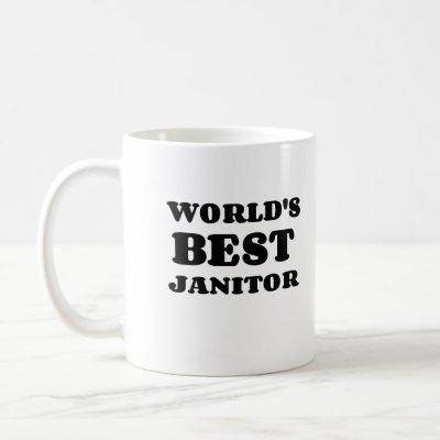 WORLD'S BEST JANITOR COFFEE MUG