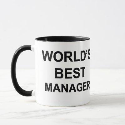 World's Best Manager Mug