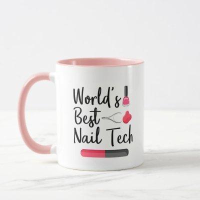 World's best nail tech mug