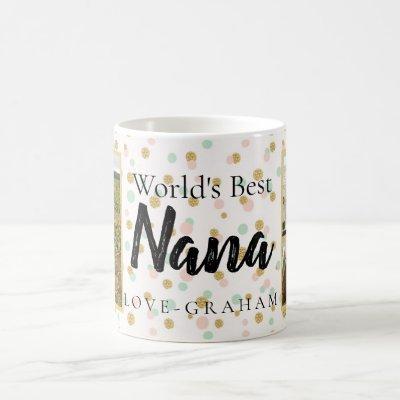 WORLDS BEST NANA WITH 2 PHOTOS COFFEE MUG