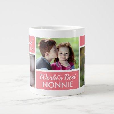 World's Best Nonnie Photo Collage Giant Coffee Mug